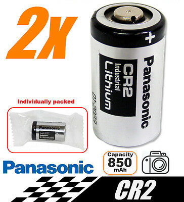 2x Panasonic 3V CR2 Lithium Battery CR15H270 CR15270 15270 15266 DLCR2 EL1CR2