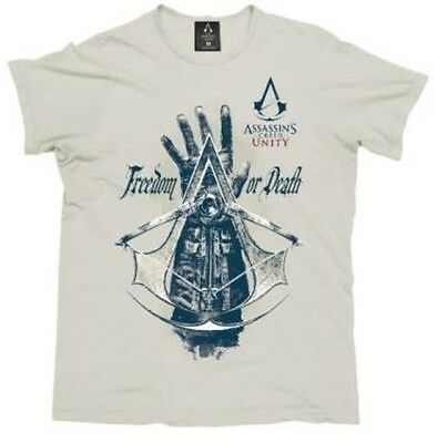 Assassins Creed Freedom Death Mens Tee Size L Brand New