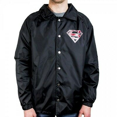 Superman Logo Coach Jacket XXL Brand New