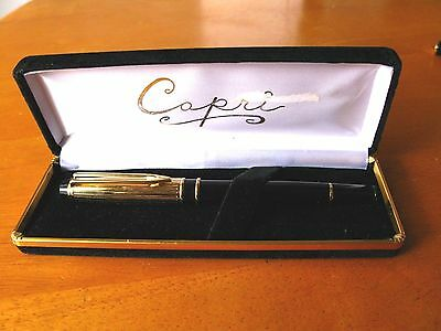 Capri Fountain Pen Fine Point Nib Made In Germany W/Case Used