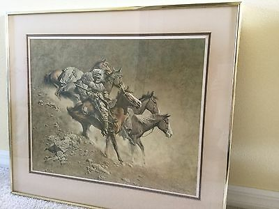 "Frank Mccarthy ""the Loner"" Original Limited Edition Print Framed"