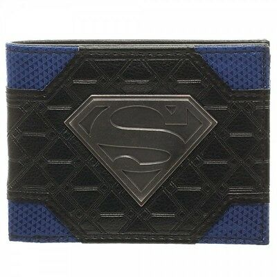 Superman Mix Mat Bi-Fold Wallt Brand New