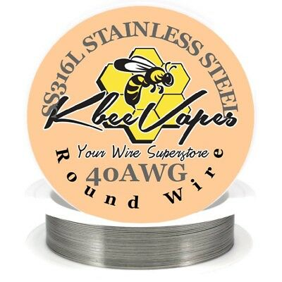 SS 316L - Stainless Steel Wire 100ft of 40 Gauge AWG