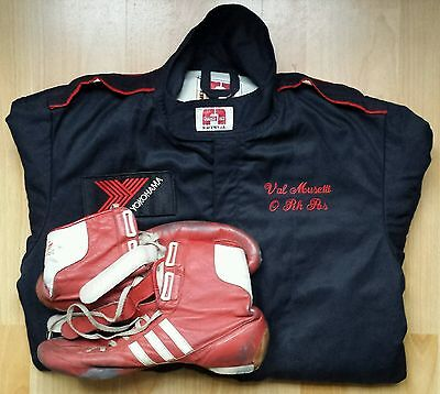 Original race used suit + shoes 1989-90 Valentino Musetti Porsche