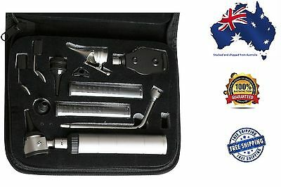 Otoscope Ophthalmoscope Set Nasal Larynx Diagnostic Premium Qlty Free Bulbs 3V
