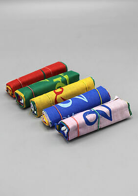 Set of Five Roll 10 Flags Extra Mini Om Mani Padme Hum Tibetan Prayer Flags