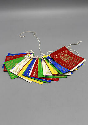 Tibetan Chenrezig Prayer Flag-Made from Himalayan Lokta Paper-Size Mini