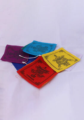 Lucky Eight Auspicious Cotton Mini Prayer Flags PF20