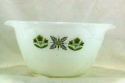 Anchor Hocking Fire King 1976 Meadow Green Handled Mixing Bowl