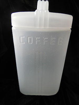 RARE Art Deco Clambroth Glass Coffee Canister