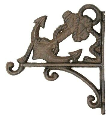 Anchor Plant Wall Hook Rustic Cast Iron Nautical Boat Ship Sea Ocean Decor
