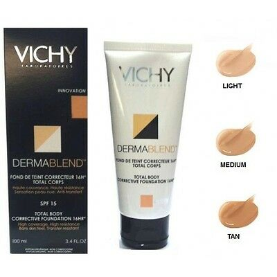 VICHY DERMABLEND TOTAL BODY CORRECTIVE FOUNDATION SPF 15 MEDIUM-LIGHT 100ml