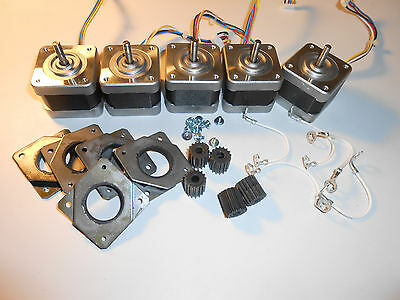 Stepper Motor Lot of 5 NEMA 17 GT3 Minebea Mill Robot RepRap Makerbot Prusa S4
