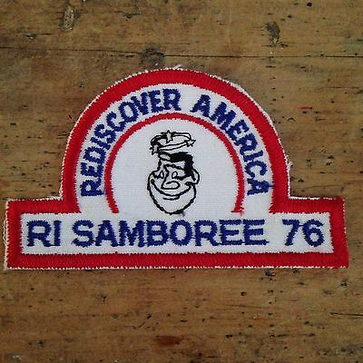 Vintage Samboree Rhode Island Patch Good Sam Club RI 1976 Rediscover America RV