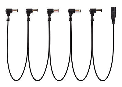 Power-All Cable for Pedal Power Supplies • Daisy Chain • 5 Lead • Right Angle