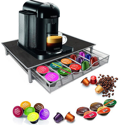 Black 36 Coffee Capsule Table Top Worktop Drawer Dispenser For Dolce Gusto Pod