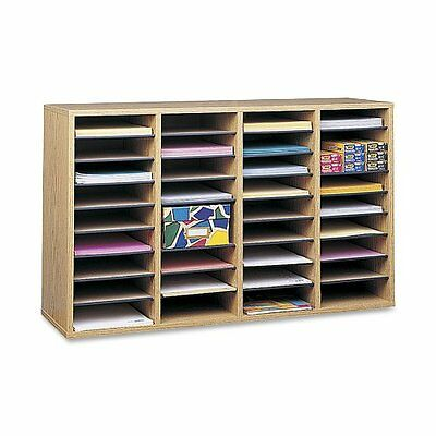 Wood Adjustable Paper Organizer 36 Compartment Classroom Employee Drawer Mailbox