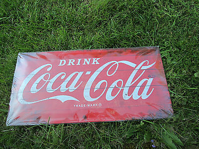 Blechschild Coca-Cola - Drink Trade Marke 25 x 50 cm