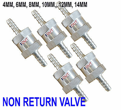 Non RETURN CHECK ONE WAY VALVE Aluminium ROLLOVER BREATHER Fuel System petrol