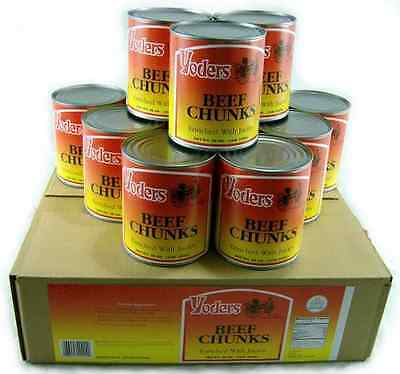 Yoders Canned Beef Chunks *Case of 12* Canned Meat *Food Storage* Emergency