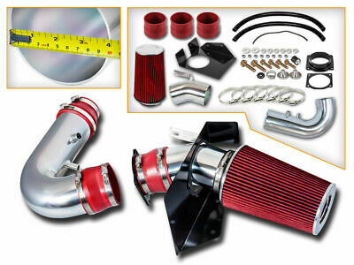 Heat Shield Cold Air Intake System + RED Filter for 98-99 Navigator 5.4L V8