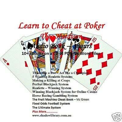 CD - Learn to Cheat at Poker - 3hr Audio Book + 10 eBooks on Gambling Systems