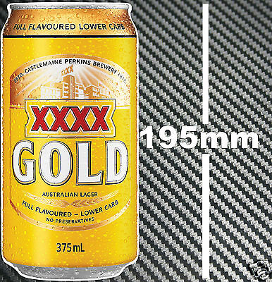 XXXX Gold Beer Can Sticker Suit Bar Camping Fishing Boat Tackle Bait Box Fridge