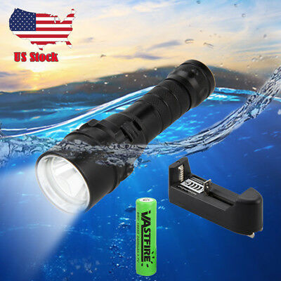 Waterproof  2000LM Scuba Diving XM-L L2 LED Dive Flashlight Torch Light 18650 US