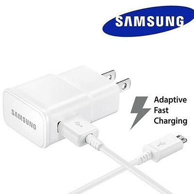 OEM Samsung Galaxy S6 S7 Edge Note 4 Note 5 Fast Rapid Wall Charger+4 Ft Cable