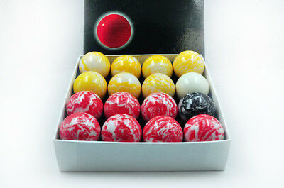 """Brand New Pool Table Accessories 2"""" Marble Pool Ball Set"""