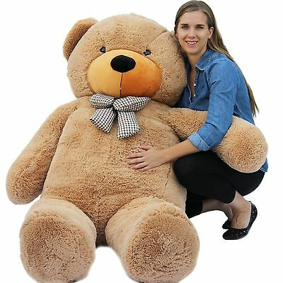 "Joyfay® 78"" 200cm 6.5ft Giant Teddy Bear Brown Huge Stuffed Toy Valentine Gift"