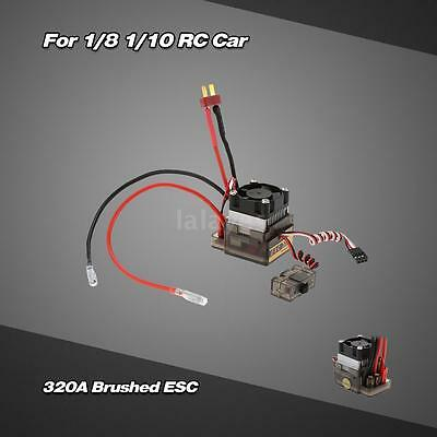 320A 2~4S LiPo Battery Brushed ESC with 5.6V/2A BEC for 1/8 1/10 Truck F4T4