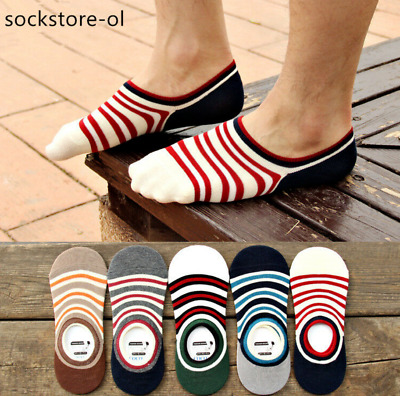 5/10 Pairs Women Invisible No Show Nonslip Loafer Boat Liner Cotton SocksLow Cut