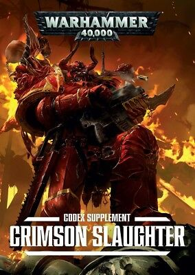 Crimson Slaughter supplement Codex (Englisch) Games Workshop Warhammer 40k Chaos