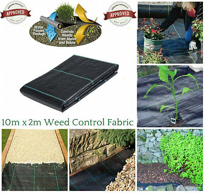 2M x 10M WEED CONTROL FABRIC MEMBRANE GROUND SHEET GARDEN DRIVEWAY HEAVY DUTY