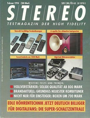 Stereo 2/1994 Zeitschrift Magazin Audio Stereoplay