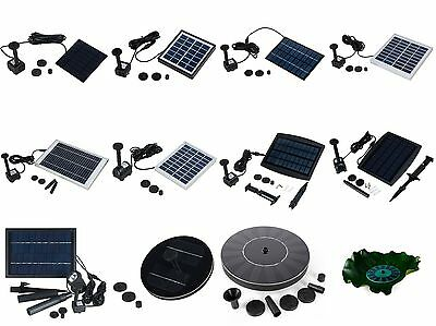 Solar Power Panel Water Pump Pool Pond Submersible Fountain Kit 14day free ship