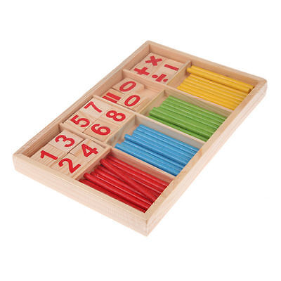 Baby Kids Wooden Mathematical Intelligence Stick Early Learning Counting Toy