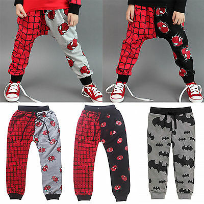 Spiderman Batman Sweatpants Summer Toddler Baby Boys Kid Trousers Joggers Pants