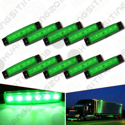 Truck Light System Automobiles & Motorcycles Motivated New White Truck Lights 10pcs 6 Led Truck Lorries Bus Clearance Side Marker Indicators Light Lamp Amber Truck Light 12v Cheap Sales