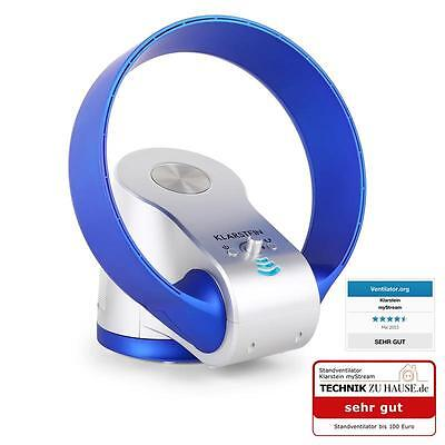 Bladeless Fan Air Cooling System By Klarstein Remote Control Blue Desk Top Fans