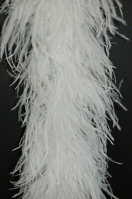 """4 Ply OSTRICH FEATHER BOA - WHITE 2 Yards; Costumes/Craft/Bridal/Trim 72"""""""