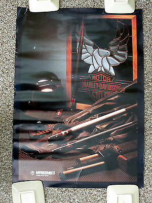 "Harley-Davidson Poster McDermott Cues Advertisement 20"" x 28"""