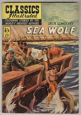 Classics Illustrated #85 July 1951 VG- Sea Wolf by Jack London