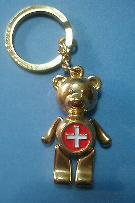 Limited Edition First Aid Teddy Bear Figural Articulated Keychain