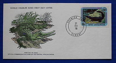 C.A.R. (324) 1978 Endangered Animals - Slender snouted Crocodile WWF FDC
