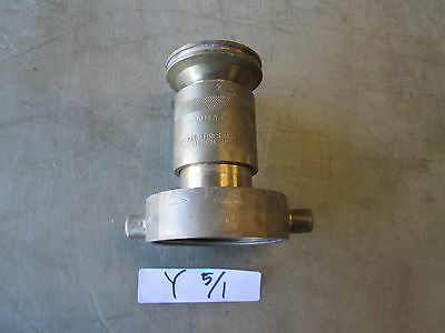 Used Powhatan No. 464 Fog Nozzle for Fire Hose, w/ Reducer