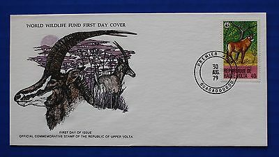 Burkina Faso / Upper Volta (507) 1979 Protected Animals - Roan Antelope WWF FDC