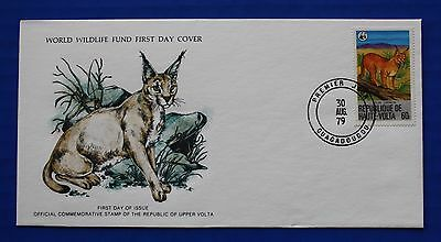Burkina Faso / Upper Volta (508) 1979 Protected Animals - Felids Caracal WWF FDC