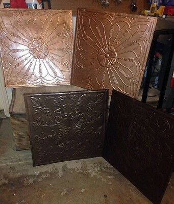 4 Antique Reclaimed Ceiling Tile 24 by 24